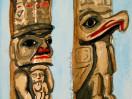 Totem poles in Victoria, B.C.